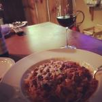 Amazing house-made pasta and marinara in meat sauce!