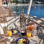 Breakfast on the private balcony with a view! Fantastic!