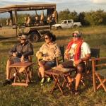Sundowners after a great game drive