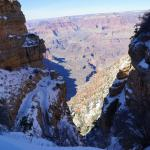 South Kaibab trail to Ooh Aah point in the snow and ice 3