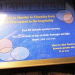 In room placard of happy  hr