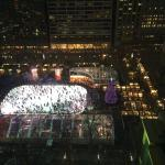 View from Jr Suite of Bryant Park Winter Village