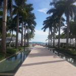 The main walkway towards the pools, beach, pier and bar.