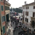 View of piazza bra from our room