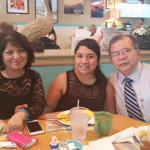Enjoying a great time with my daughter and wife