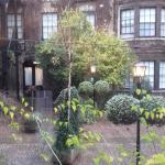 The view into the courtyard from our room.