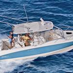 Fishing charter boats are available for rental nearby