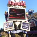 Harrah's sign on The Strip