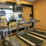 Hotel's gym room with treadmills