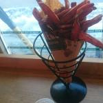 The best sweet potato fries ever!  Plus the view is gorgeous!  Can't beat it, a must.
