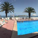 Main pool area, good house music plays during the day
