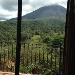 View of volcano from room