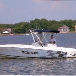 Fishing charter boats are available for rental at nearby marina