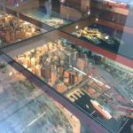 View of the Sydney model under the floor