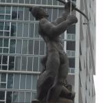 Statue on Brickell Ave bridge