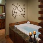 Enjoy soaking in the jetted tub of our One Bedroom Units