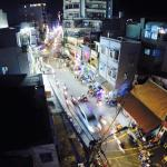 Balcony view above the heart of the breathtaking happening on Bui Vien Street