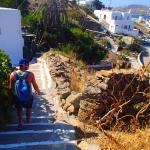 The view and steps at la veranda of Mykonos!