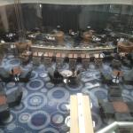 View from the glass elevator of the restaurant area