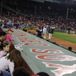 2nd Row seats behind Red Sox dugout