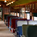 Assorted seats from many different trains