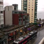 View from balcony of Room 502. Note the bus terminus below. Can be noisy.