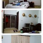 Private room / double bed room with fan. I shared with a friend I just met. :D