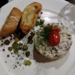 Marinated herring tartar