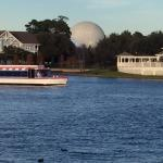 View of Epcot from the boardwalk. The park is within walking distance.