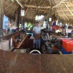 Bar Tender Manuel. Manolo, always smiling and attentive