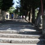 The steps leading up Piazzale Michelangelo.