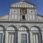 Looking up at San Miniato.