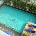 The pool from 10th floor room.