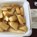 Almost $13 for 2 sides, and barely filled the box with Yuca..