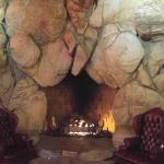 Wait by the fire for your table to be ready.