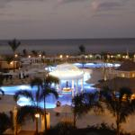 Pool/Beach at night: view from balcony