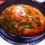 spicy beef Korean style udon at the restaurant hotel guest get discounted