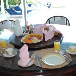 breakfast cooked to order at our villa every morning