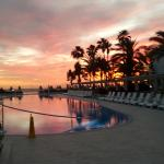 The main pool looking towards the Infinity Pool at Sunset.