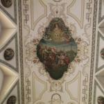 Part of the painted ceiling inside the St. Louis Cathedral