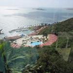 View from Funicular down to adult pool