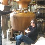 John gives a lively and informative lesson on his distillery.
