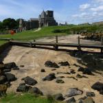 Inchcolm Abbey, the old pier.