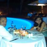 Special Dinner arranged for honeymoon couple by hotel management