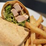 Double Tree Miami Airport - Chicken caesar wrap with fries