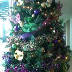 Mardi Gras Tree in the Lobby