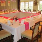 Private dining room laid up for family 90th birthday