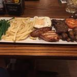 This was my mixed grill from the hotel restaurant