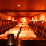 The cellar at Hans Herzog winery