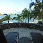 The patio of our oceanfront room. At night we could hear the surf.